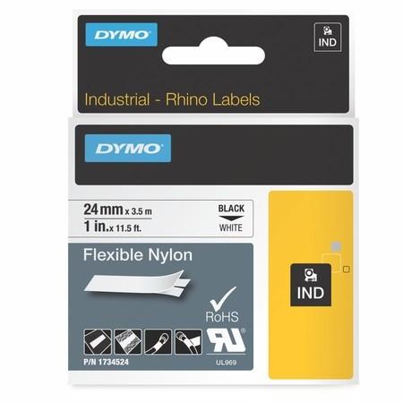 Páska Dymo 1734524 biela/čierny tlač, 24 mm, flexibilná nylonová