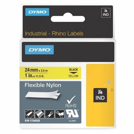 Páska Dymo 1734525 žltá/čierny tlač, 24 mm, flexibilná nylonová