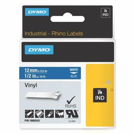 Páska Dymo 1805243 modrá/biely tlač, 12 mm, vinylová