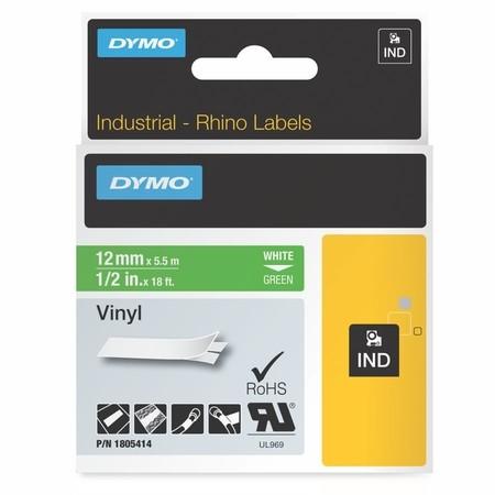 Páska Dymo 1805414 zelená/biely tlač, 12 mm, vinylová
