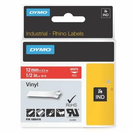 Páska Dymo1805416 červená/biely tlač, 12 mm, vinylová