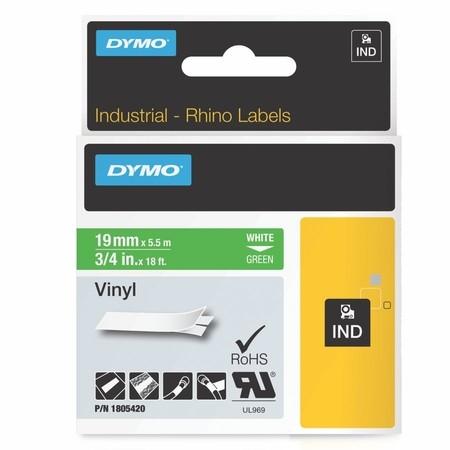Páska Dymo 1805420 zelená/biely tlač, 19 mm, vinylová