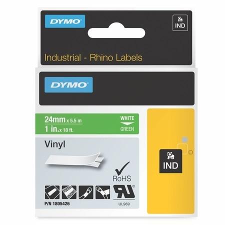 Páska Dymo 1805426 zelená/biely tlač, 24 mm, vinylová