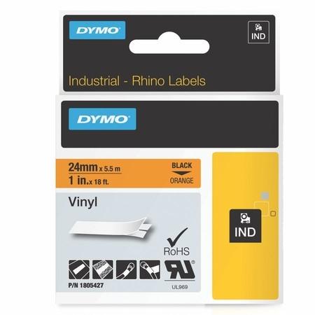 Páska Dymo 1805427 oranžová/čierny tlač, 24 mm, vinylová