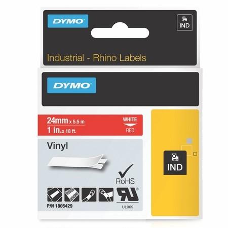 Páska Dymo 1805429 červená/biely tlač, 24 mm, vinylová