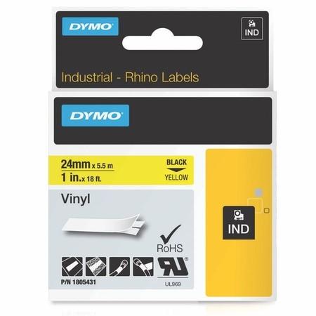 Páska Dymo 1805431 žltá/čierny tlač, 24 mm, vinylová