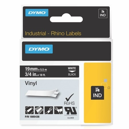 Páska Dymo 1805436 čierna/biely tlač, 19 mm, vinylová