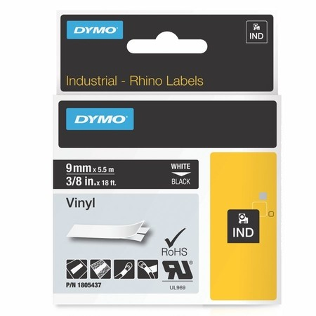 Páska Dymo 1805437 čierna/biely tlač, 9 mm, vinylová