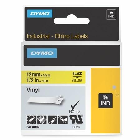 Páska Dymo 18432 žltá/čierny tlač, 12 mm, vinylová