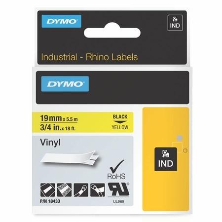 Páska Dymo 18433 žltá/čierny tlač, 19 mm, vinylová