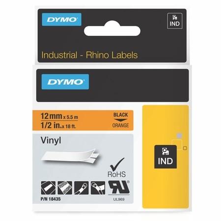 Páska Dymo 18435 oranžová/čierny tlač, 12 mm, vinylová
