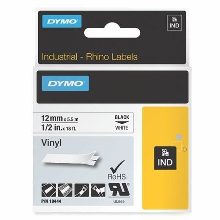 Páska Dymo 18444 biela/čierny tlač, 12 mm, vinylová