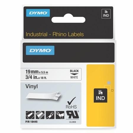 Páska Dymo 18445 biela/čierny tlač, 19 mm, vinylová