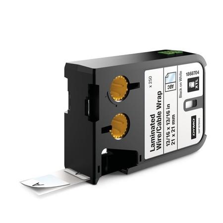 Štítky Dymo XTL 1868704 biele/čierny tlač, 21x21 mm, obmotávacie