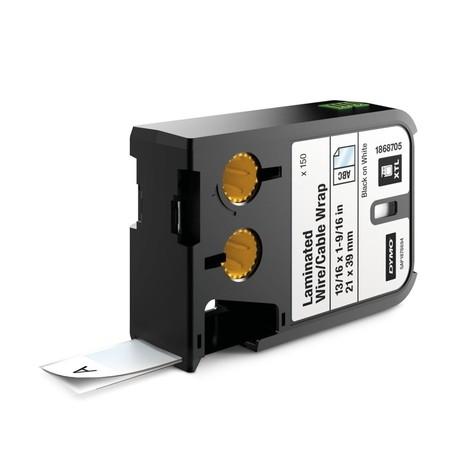 Štítky Dymo XTL 1868705 biele/čierny tlač, 21x39 mm, obmotávacie