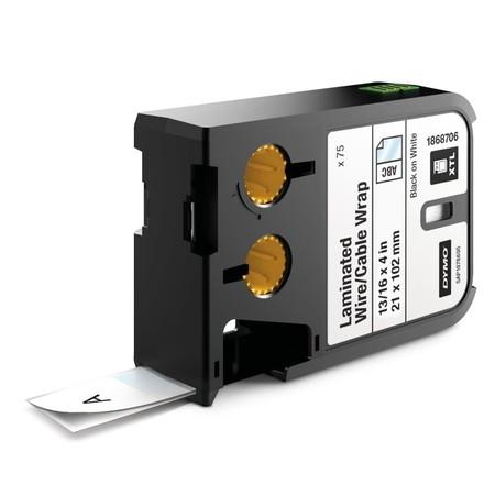 Štítky Dymo XTL 1868706 biele/čierny tlač, 21x102 mm, obmotávacie