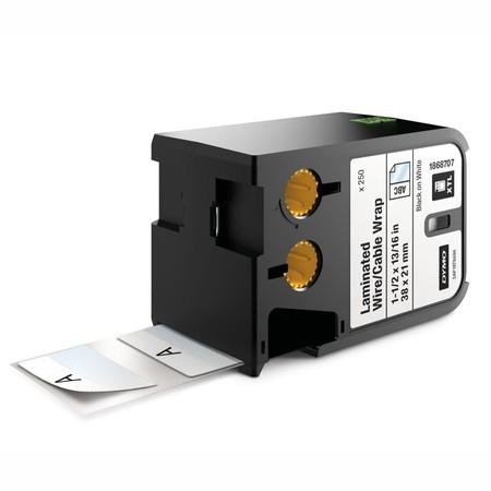 Štítky Dymo XTL 1868707 biele/čierny tlač, 38x21 mm, obmotávacie
