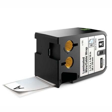 Štítky Dymo XTL 1868708 biele/čierny tlač, 38x39 mm, obmotávacie