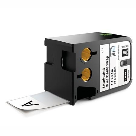 Štítky Dymo XTL 1868709 biele/čierny tlač, 38x102 mm, obmotávacie