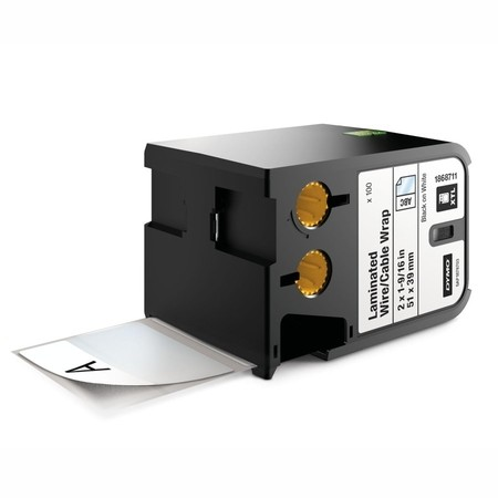 Štítky Dymo XTL 1868711 biele/čierny tlač, 51x39 mm, obmotávacie