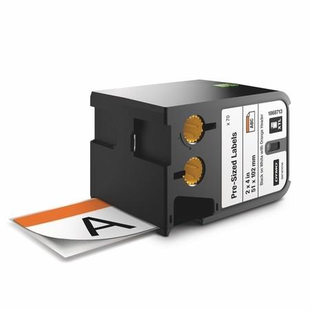 Bezpečnostné štítky Dymo XTL 1868713 biela/oranžová, 51x102 mm