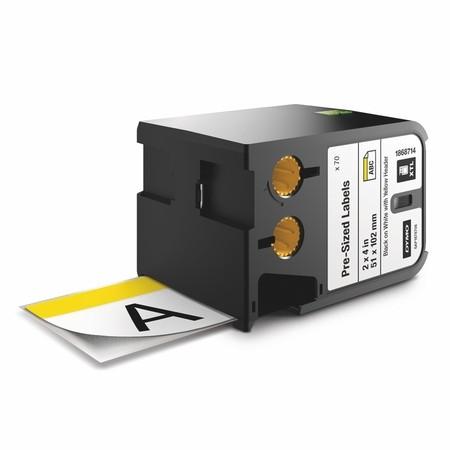 Bezpečnostné štítky Dymo XTL 1868714 biela/žltá, 51x102 mm