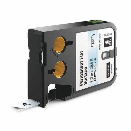 Páska Dymo XTL 1868740 priehľadná/čierny tlač, 12 mm, silné lepidlo