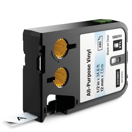 Páska Dymo XTL 1868741 priehľadná/čierny tlač, 12 mm, vinylová