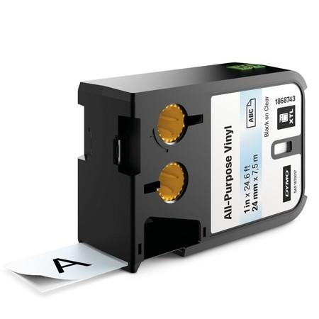 Páska Dymo XTL 1868743 priehľadná/čierny tlač, 24 mm, vinylová