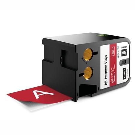 Páska Dymo XTL 1868765 červená/biely tlač, 54 mm, vinylová