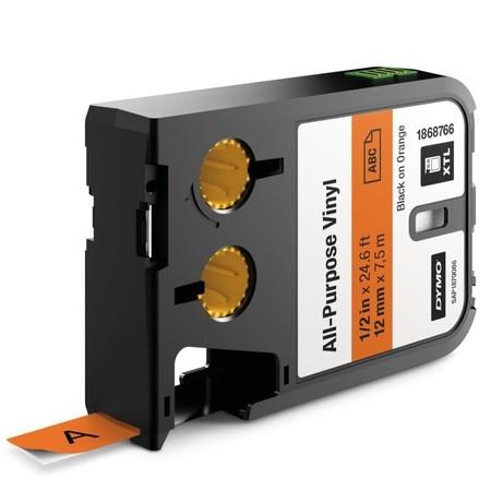 Páska Dymo XTL 1868766 oranžová/čierny tlač, 12 mm, vinylová