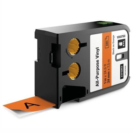 Páska Dymo XTL 1868768 oranžová/čierny tlač, 24 mm, vinylová