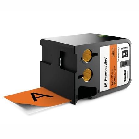 Páska Dymo XTL 1868770 oranžová/čierny tlač, 54 mm, vinylová