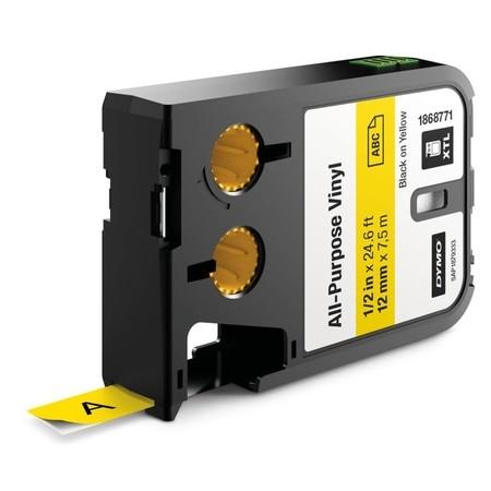 Páska Dymo XTL 1868771 žltá/čierny tlač, 12 mm, vinylová
