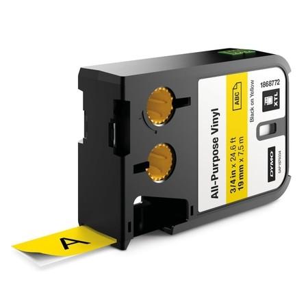 Páska Dymo XTL 1868772 žltá/čierny tlač, 19 mm, vinylová