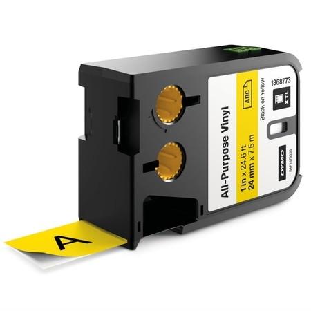 Páska Dymo XTL 1868773 žltá/čierny tlač, 24 mm, vinylová
