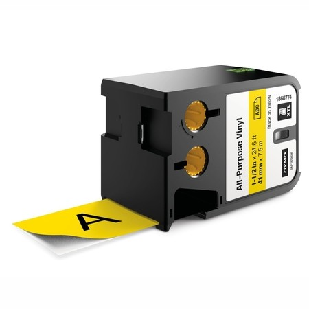 Páska Dymo XTL 1868774 žltá/čierny tlač, 41 mm, vinylová