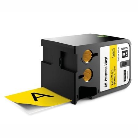 Páska Dymo XTL 1868775 žltá/čierny tlač, 54 mm, vinylová
