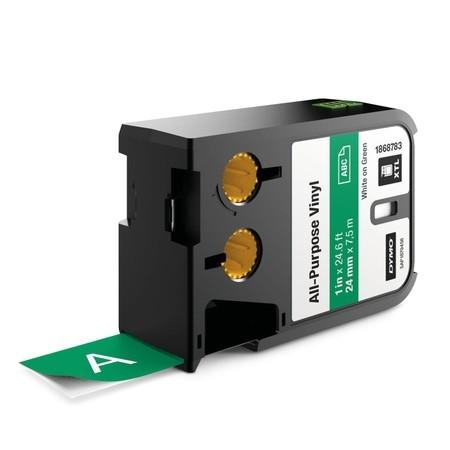 Páska Dymo XTL 1868783 zelená/biely tlač, 24 mm, vinylová