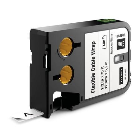 Páska Dymo XTL 1868806 biela/čierny tlač, 12 mm, flexibilná nylonová