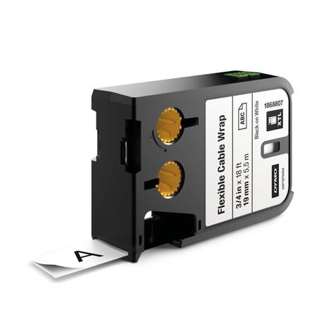 Páska Dymo XTL 1868807 biela/čierny tlač, 19 mm, flexibilná nylonová