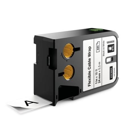 Páska Dymo XTL 1868808 biela/čierny tlač, 24 mm, flexibilná nylonová
