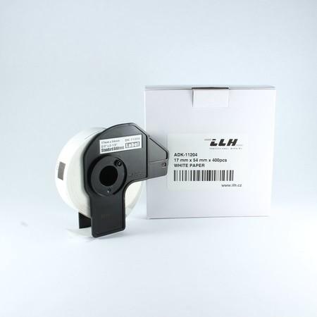 Papierové štítky ADK11204, 17x54 mm, 400 ks
