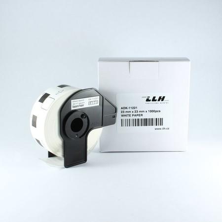 Papierové štítky ADK11221, 23x23 mm, 1000 ks