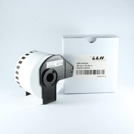 Papierová rolka ADKN55224, šírka 54 mm, bez lepidla