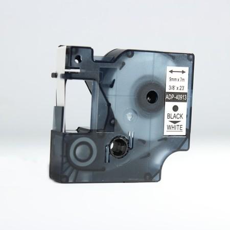 Páska ADP-40913 biela/čierny tlač, 9 mm