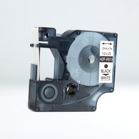 Páska ADP-45013 biela/čierny tlač, 12 mm