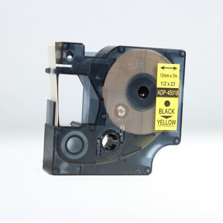 Páska ADP-45018 žltá/čierny tlač, 12 mm