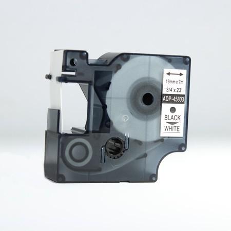 Páska ADP-45803 biela/čierny tlač, 19 mm