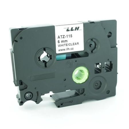 Páska ATZ-115 priehľadná/čierny tlač, 6 mm